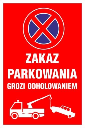 TABLICZKA - ZAKAZ PARKOWANIA 20x30 PCV 5mm