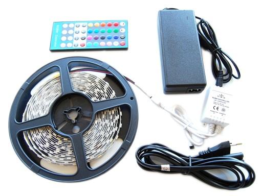 ZESTAW Taśma 300 LED RGBW Biała CIEPŁA 5m 5050 HIT