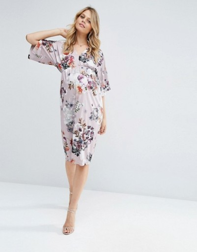 0f83aec35b35f6 ASOS ciążowa sukienka w kwiaty kimono L 40 7542681478 - Allegro.pl