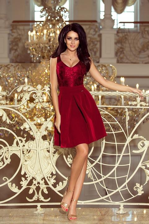 SEXY Sukienka NA RAMIĄCZKACH NA STUDNIÓWKĘ 208-3 M 8683509548 Odzież Damska Sukienki wieczorowe EH MHCUEH-7