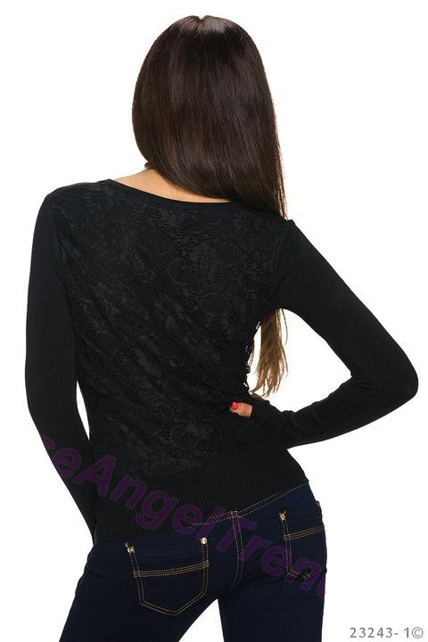 NIEZIEMSKI SWETER Z KORONKĄ BLUZKA RoseAngelTrendy 8766297843 Odzież Damska Swetry AL LTQQAL-2