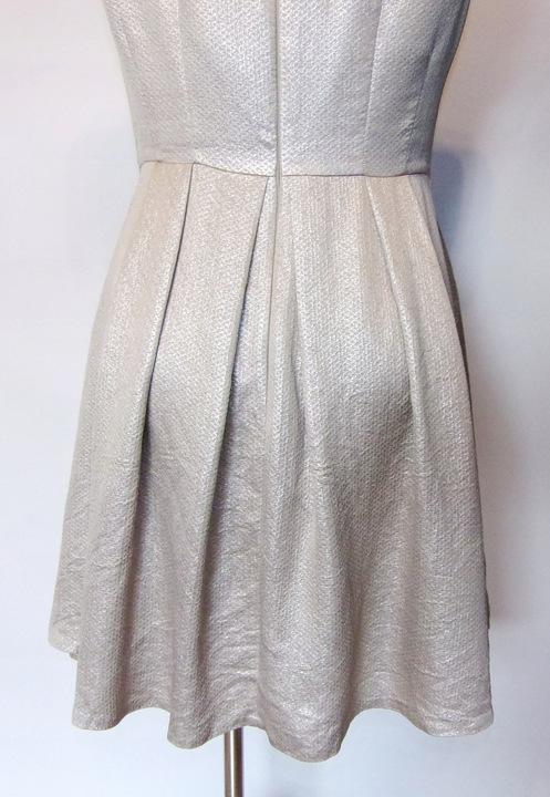 COAST złota żakardowa wieczorowa sukienka 42/44 9561083071 Odzież Damska Sukienki wieczorowe VR LSKVVR-3