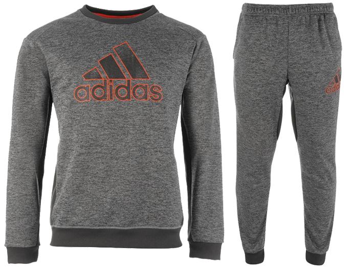 różowy melanż dres kompletny bluza spodnie adidas w Sportowe